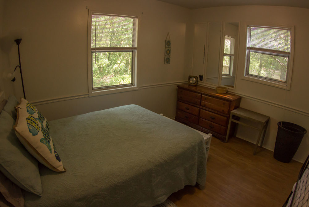 Bedroom in The Ginnie Cottage at Ginnie Springs.