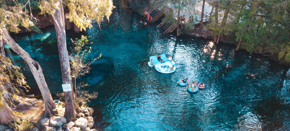 Image of guests tubing Ginnie Springs.