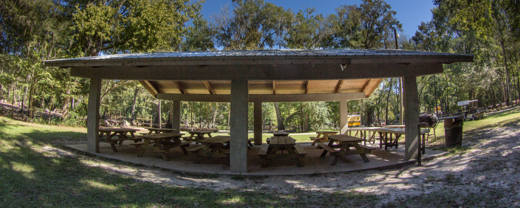 Image of Turkey Roost Pavilion. Available for Group Rentals.